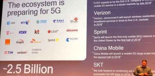 teléfonos inteligentes 5G en el 2018